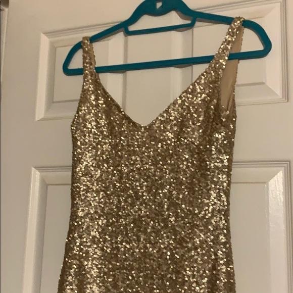 Floor length bridesmaids dress